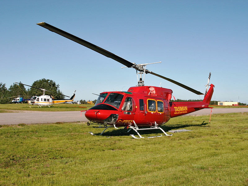 I believe this is a Bell 205. I checked the registration in 2008 and it came up blank so I am not positive as to whether or not this is a Bell 205, or a Bell 212.