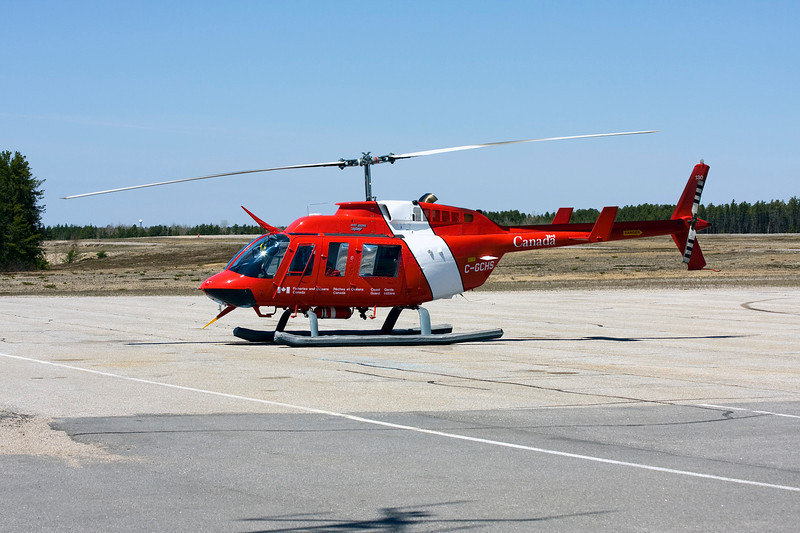Fisheries and Oceans Canada were in Dryden in this Bell 206L-1.