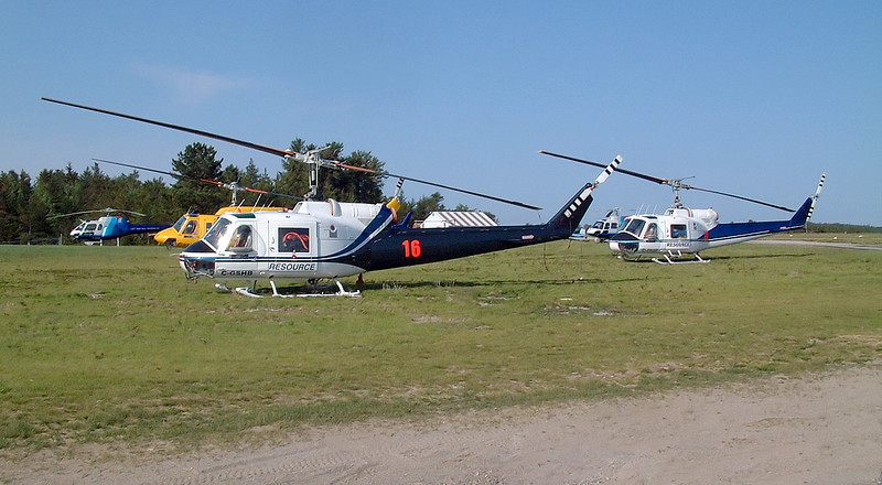 During a fire season, everyone sends a helicopter to Dryden on spec - hoping to get hired by the MNR.