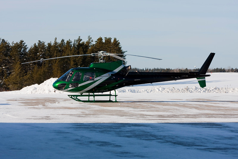 Aurora Helicopters Ltd. stopped in to fuel up in this Aerospatiale AS 350 B-2.