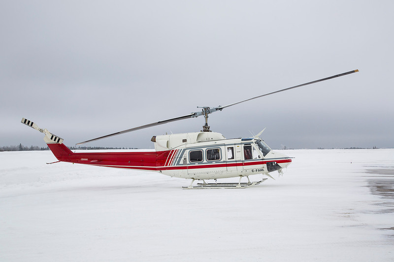 56 of 365 (Bell 212)<br /> <br /> This Bell 212 sits on the ramp in Dryden after being re-fuelled.