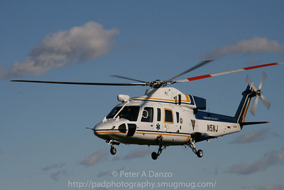 New Jersey State Police Northstar Medi-vac helicopter, Sikorsky S-76B,  N5NJ, Perth Amboy NJ, 11-22-08