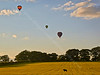Balloons Coming to Land near Strathaven - 24 August 2014