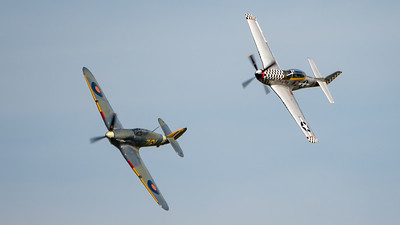Shuttleworth, Old Warden-> Race Day 2018-> Display-> Nod To Reno, Aircraft-> Hawker-> Hurricane-> Sea Hurricane Mk1B-> Z7015, Aircraft-> North American-> TF-51D Mustang-> 414251 - Contrary Mary - 07/10/2018@14:50