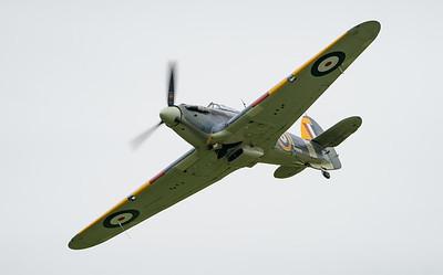 7-L, Hawker, Hurricane, Sea Hurricane 1B, Shuttleworth Collection, Shuttleworth Heritage Day, Z7015; Old Warden Aerodrome,Bedford,Central Bedfordshire,England