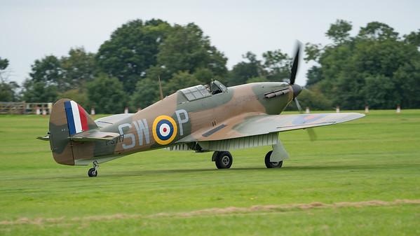 G-HITT, Hawker, Hurricane, Hurricane MK II, P3717, SW-P, Shuttleworth Heritage Day; Old Warden Aerodrome,Bedford,Central Bedfordshire,England
