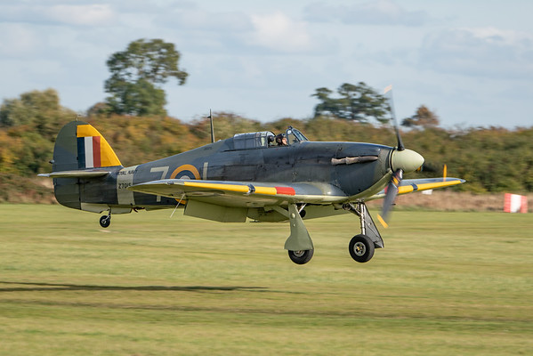 Shuttleworth, Old Warden-> Race Day 2018-> Display-> Nod To Reno, Aircraft-> Hawker-> Hurricane-> Sea Hurricane Mk1B-> Z7015 - 07/10/2018@14:59