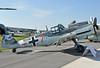 """ILA Berlin at Flughafen Schönefeld (SXF) on September 14, 2012. Messerschmitt Stiftung Messerschmitt Bf 109G-4 D-FWME. Painted as Luftwaffe """"- + 7"""" (Rote Sieben). This aircraft was originally built as a Spanish Hispano HA-1112M-1L Bucon (cn 139/C.4K-75)."""