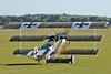 Imperial War Museum Duxford (EGSE) on september 7, 2012. Mikael Carlson Flying Machines Fokker Dr.1 Dreidecker Replica SE-XXZ (cn 1306).