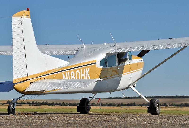 Imperial War Museum Duxford (EGSE) on September 7, 2012. Private Cessna 180K Skywagon N180HK (cn 18053191).