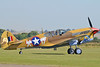 """Imperial War Museum Duxford (EGSE) on September 7, 2012. The Fighter Collection Curtiss P-40F Warhawk G-CGZP (cn 2991/BuNo. 41-19841). Painted as USAAF X-17 """"Lee`s Hope""""."""
