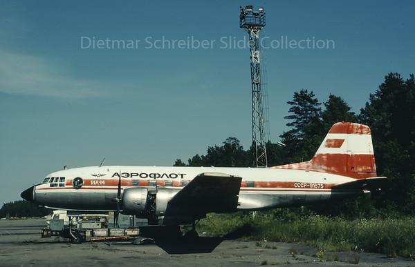 1990-07 CCCP-91575 Ilyushin 14 Aeroflot - Soviet Airlines