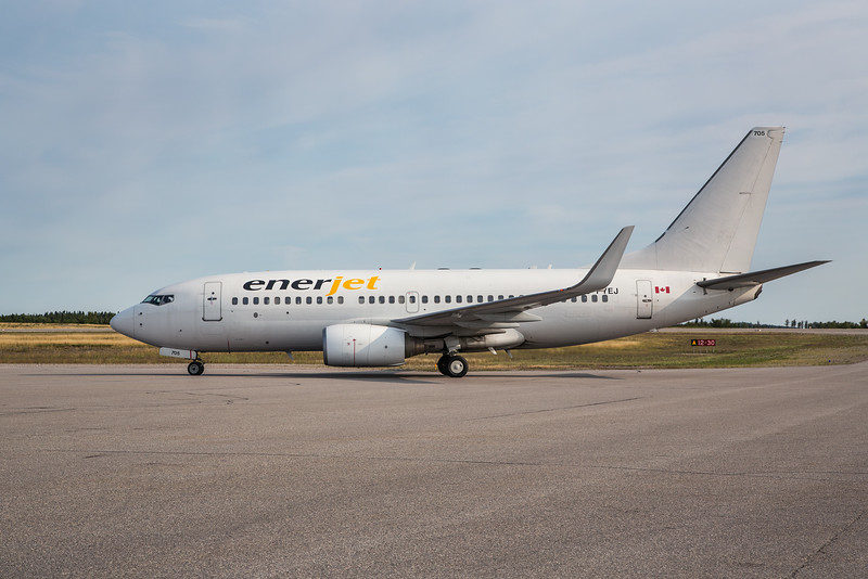 Enerjet on the Dryden ramp for a MNR charter with this Boeing 737-700.