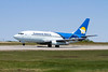 Canadian North taking off from Dryden in a Boeing 737-25A.