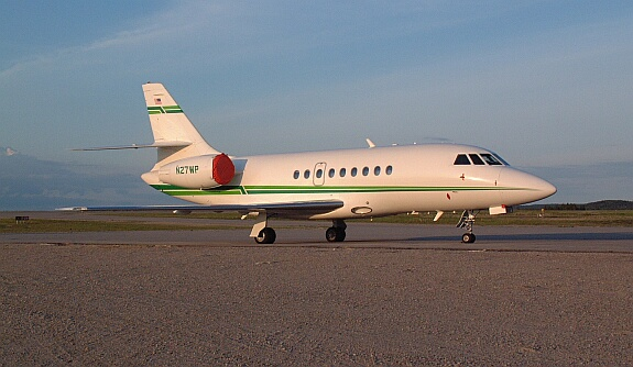 Weyerhaeuser had a mill here, this is one of their Falcon 50's.<br /> <br /> The mill has since been sold to Domtar.