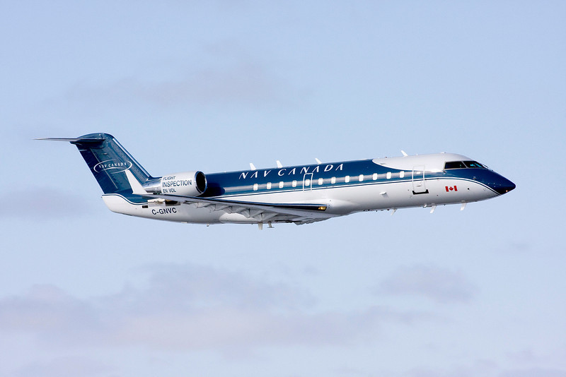 NAV Canada came to town with this Bombardier CL-600-2B19 to test our updated ILS syytem.