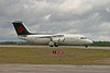 A British Aerospace BAE 146 SERIES 200 comes to Dryden as part of a charter.