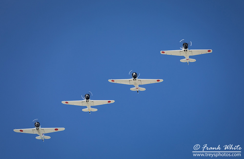 "Replica Japanese Zero fighters from the ""Tora, Tora, Tora"" reenactment group"