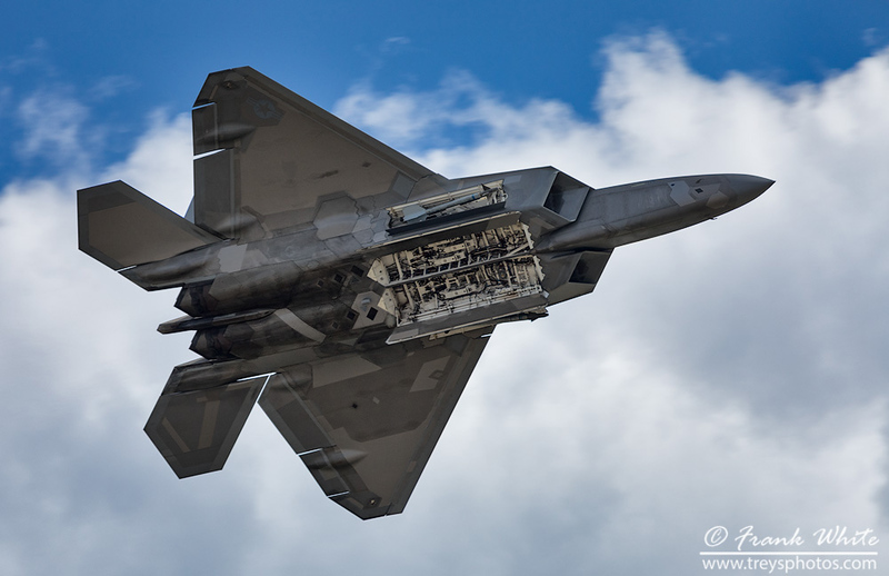 F-22 Raptor with bay doors open