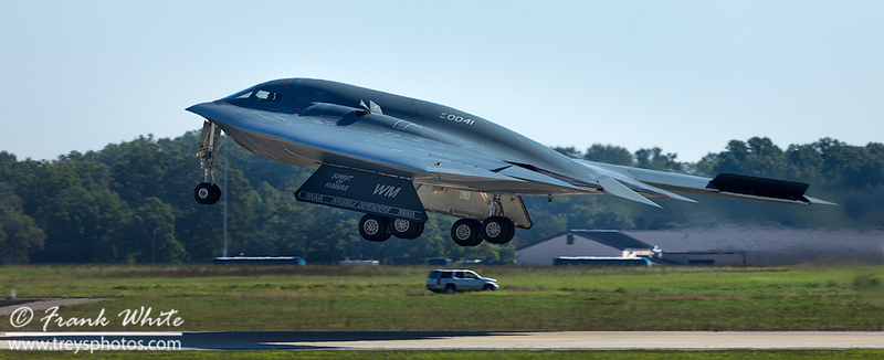 B2 Spirit bomber taking off