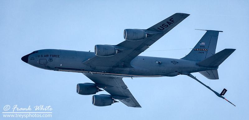 KC-135 tanker flyby