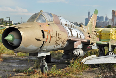 "Former National Air & Space Museum at Khodynka Field in Moscow on August 11, 2012. Soviet Air Force Sukhoi Su-17M4 Fitter-K ""71 Red"" (cn 50820)."