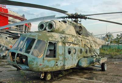 "Former National Air & Space Museum at Khodynka Field in Moscow on August 18, 2009. Aeroflot Mil Mi-8T Hip-C CCCP-11052 (cn 9732810). This helicopter was later transferred to the Soviet Air Force as ""38 Yellow""."