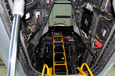 Looking up into the cockpit, no access was allowed.