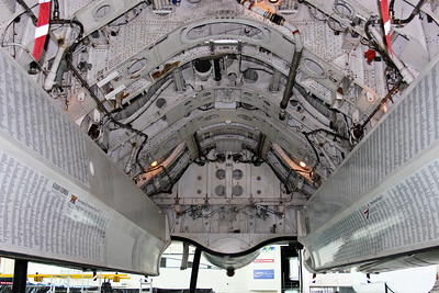 Another view of the bomb bay. During the period this airframe flew as a tanker, the bay carried a fuel tank.