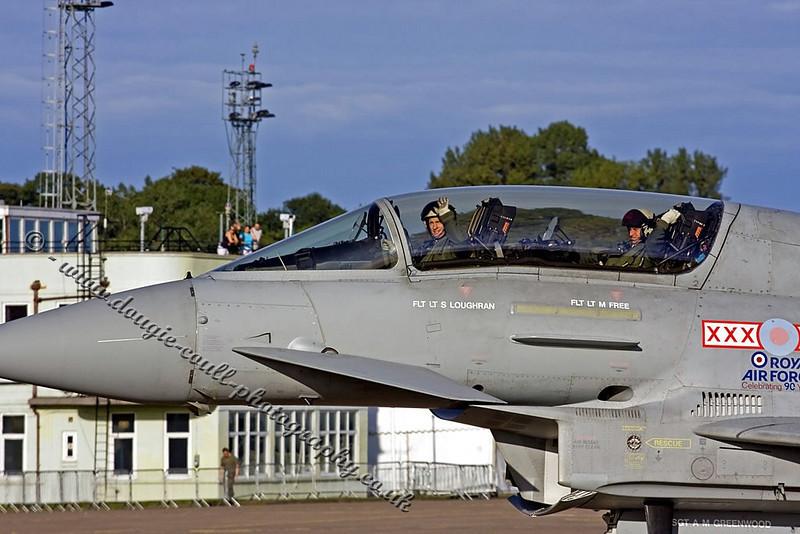 Typhoon Crew Give a Wave - Leuchars 2008