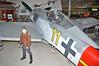 """Luftfahrtmuseum Hannover-Laatzen om September 9, 2012. Luftwaffe Focke-Wulf Fw 190A-8 """"yellow 11"""" from 6./JG 1."""