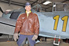 Luftfahrtmuseum Hannover-Laatzen on September 9, 2012. A Luftwaffe-pilot with the famous USAAF A-2 Leather Flight Jacket.