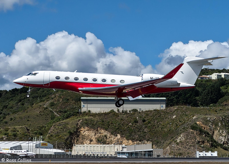 Gulfstream G650, M-ABJL, at Wellington, 24 February 2018