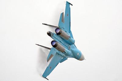 "International Aviation and Space Salon MAKS-2013 at Zhukovsky-Ramenskoye (UUBW) on August 30, 2013. Russian Air Force Sukhoi Su-34 Fullback ""28 Red"" (cn: Unknown)."