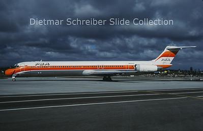 1987-11 N813US MDD MD81 (c/n 48093) PSA