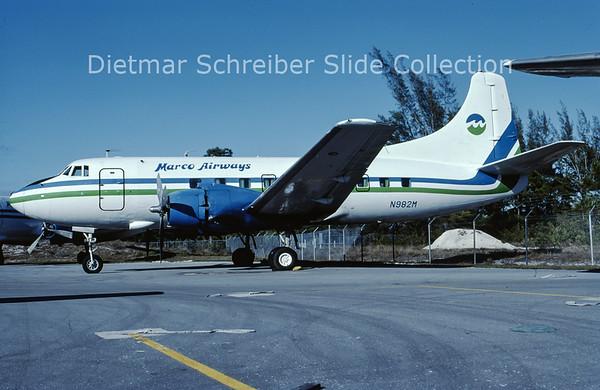 1985-01 N982M Martin 404 (c/n 14247) Marco Island Airways
