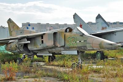 Former National Air & Space Museum at Khodynka Field in Moscow on August 11, 2012. MiG Design Bureau MiG-23B (izdeliye 32-24) Flogger-F (cn 0390217055).