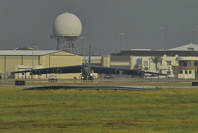 "B-52 Stratofortress ""Buff"" taxiing for takeoff"