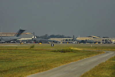 """B-52 Stratofortress """"Buff"""" taxiing for takeoff"""