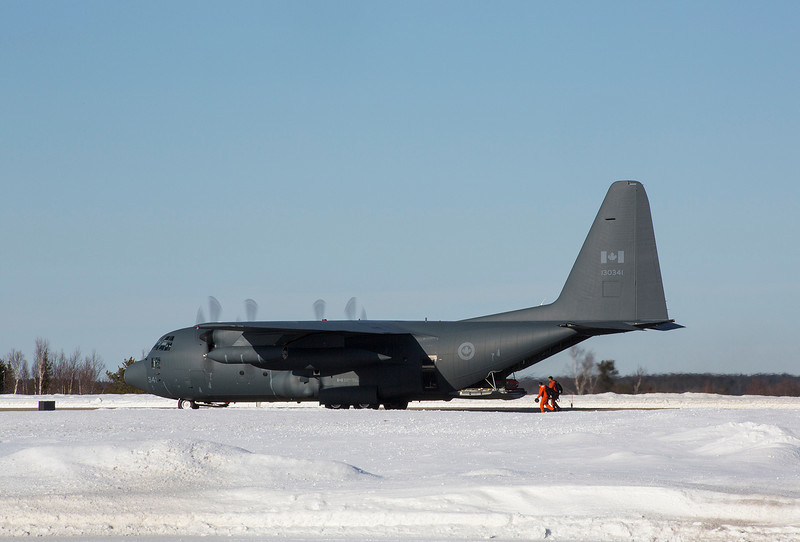 57 of 365 (Need a lift?)<br /> <br /> Hercules C-130 was back in the area doing some SAR training.