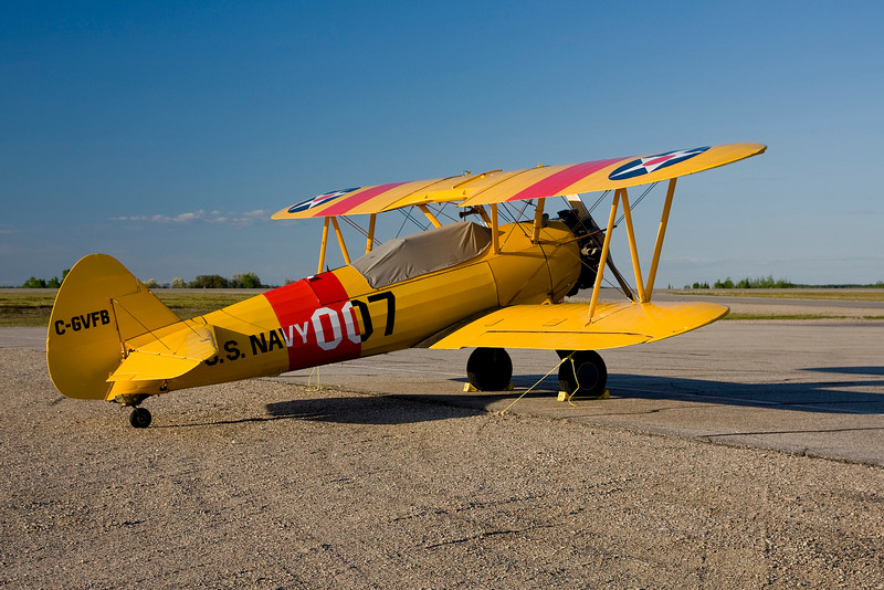 A Boeing	 PT17 (S/N 75-1496) - made by the Stearman Aircraft Division Of Boeing Airplane Company in 1941.