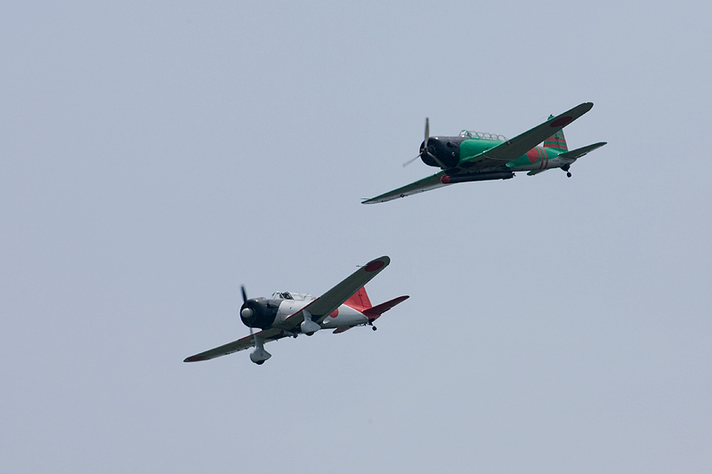 Japanese Kate and Val dive bombers