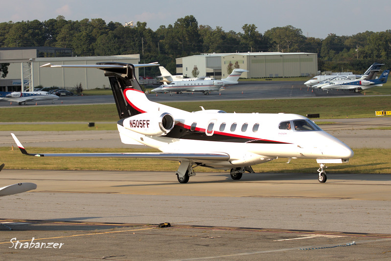 Embraer EMB-505 Phenom 300 s/n 50500226<br /> Jones Co, Waycross, GA<br /> Heading out to Waycross-Ware County<br /> <br /> KPDK, DeKalb, GA,   09/22/2017<br /> This work is licensed under a Creative Commons Attribution-<br /> NonCommercial 4.0 International License