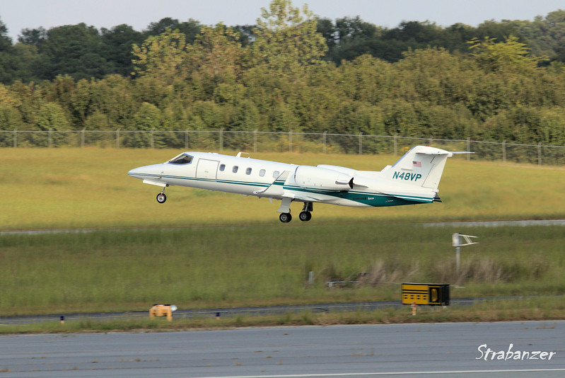 Learjet INC 31A    c/n  240   N48VP<br /> Dycom Aviation LLC    Palm Beach gardens, FL<br /> Leaving for Myrtle Beach Intl<br /> <br /> KPDK, DeKalb, GA,   09/22/2017<br /> This work is licensed under a Creative Commons Attribution-<br /> NonCommercial 4.0 International License