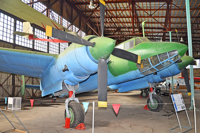 """Central Air Force Museum at Monino outside Moscow on September 2, 2012. Soviet Air Force Tupolev Tu-2S """"aircraft 61"""" Unmarked (cn Unknown)."""