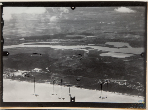 Swedish photos of Penemünde taken by a Swedish Caproni during the war. The images were then sent to England.