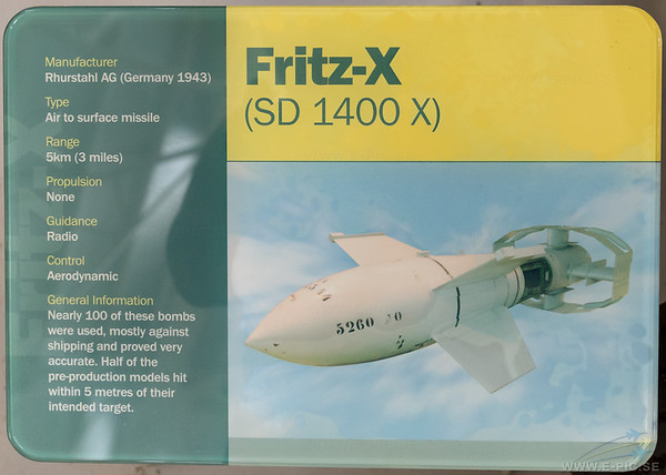 Fritz-X Air to Surface missile