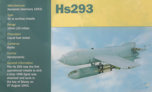 HS 293 Air to surface missile