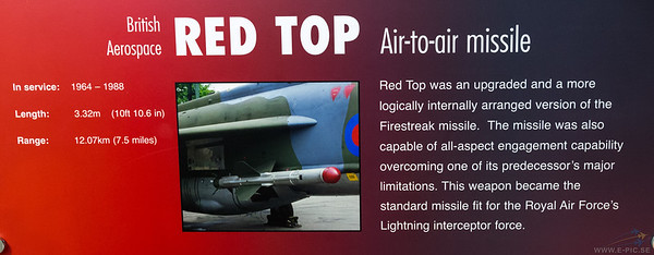 British Aerospace Red Top AA missile