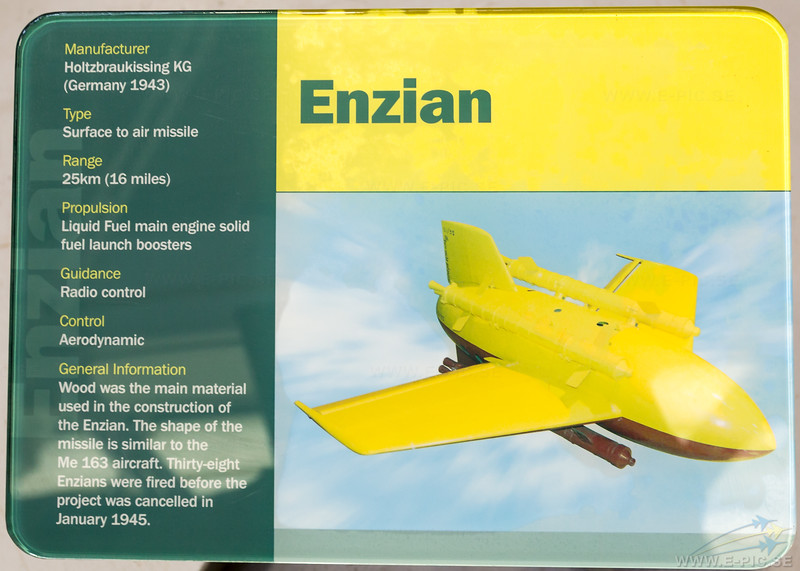Enzian Surface to Air missile